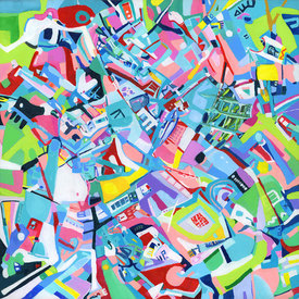 Karen L Kirshner Complex Abstracts 30 x 30 inches