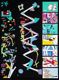 Karen L Kirshner Pop/Surrealistic Abstracts 30 x 22 inches