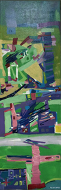 Karen L Kirshner Pop/Surrealistic Abstracts 30 x 10 inches