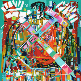 Karen L Kirshner Complex Abstracts 36 x 36 inches