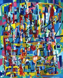 Karen L Kirshner Complex Abstracts 20 x 16 inches