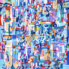 Karen L Kirshner Complex Abstracts 20 x 20 inches