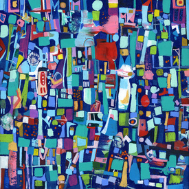 Karen L Kirshner Complex Abstracts 24 x 24 inches