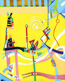 Karen L Kirshner Pop/Surrealistic Abstracts 30 x 24 inches