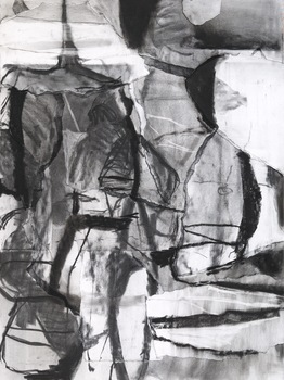 Karl Pilato Charcoal charcoal and collage on paper