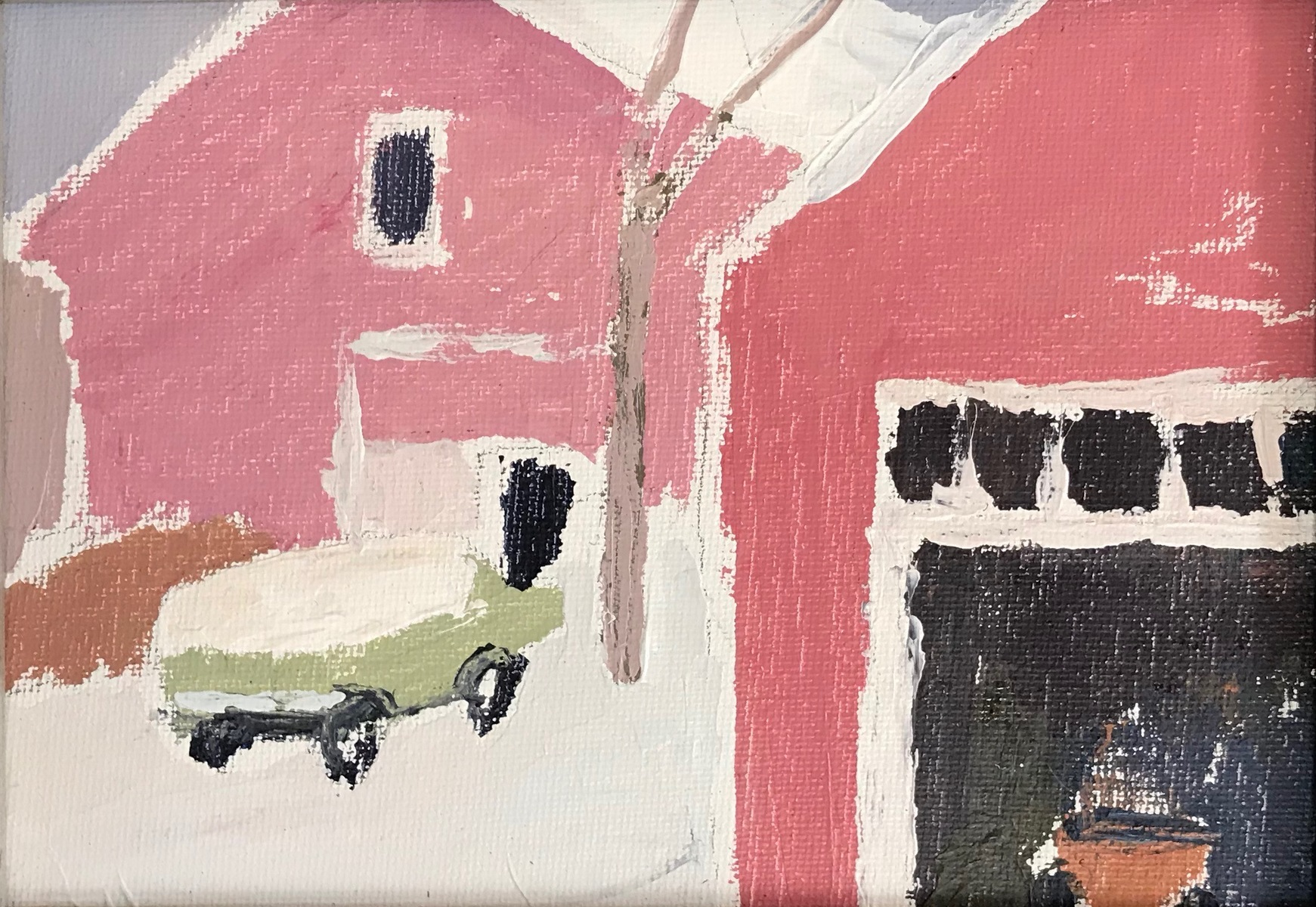 Painting 2019-2020 Late March Snow