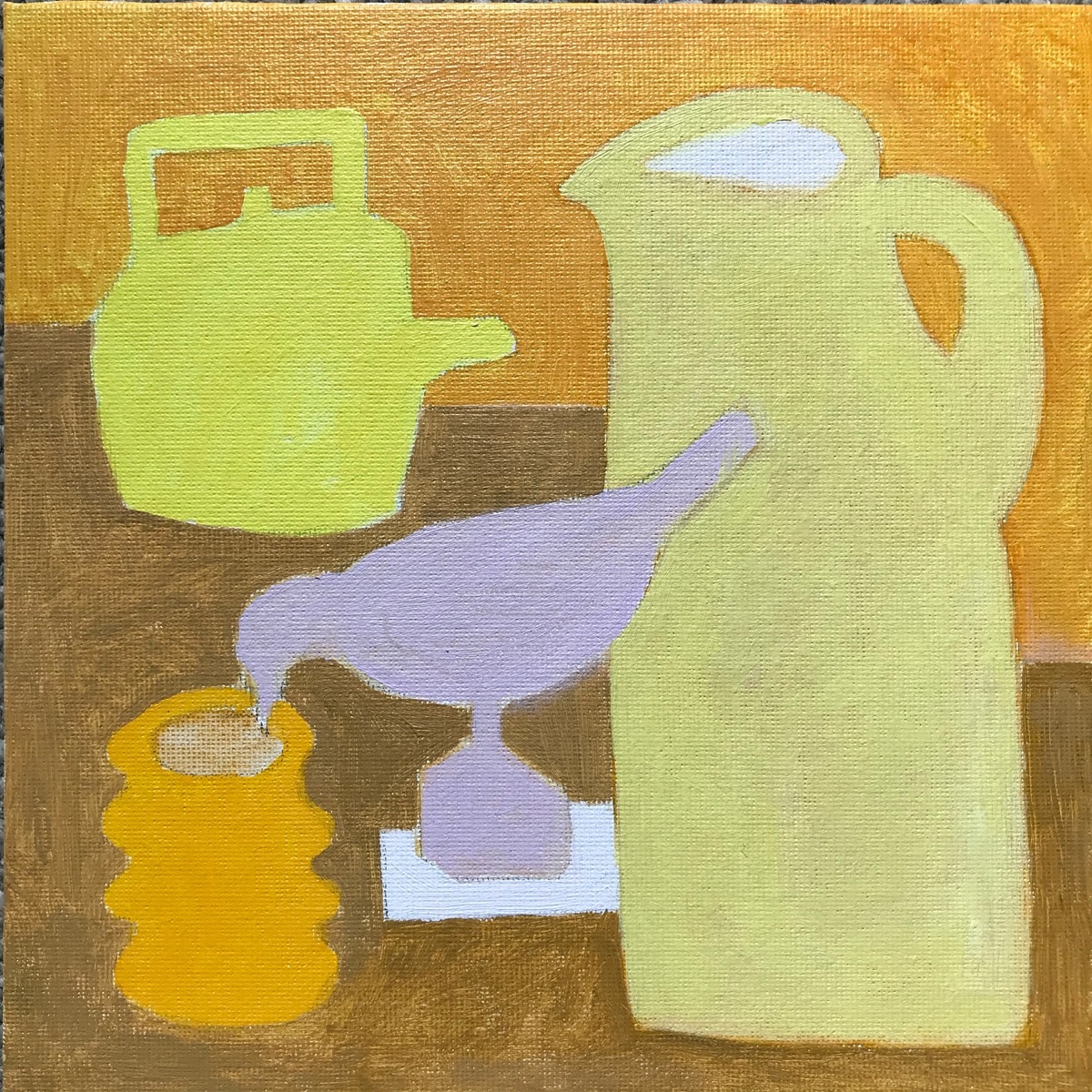 Painting 2019-2020 Yellow Still LIfe