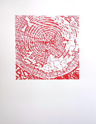 Katharine Dufault Work on Paper Screen print on Arches paper