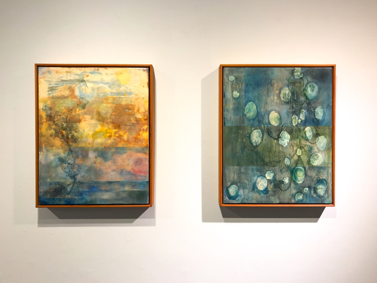 Katharine Dufault Waxing Poetic encaustic