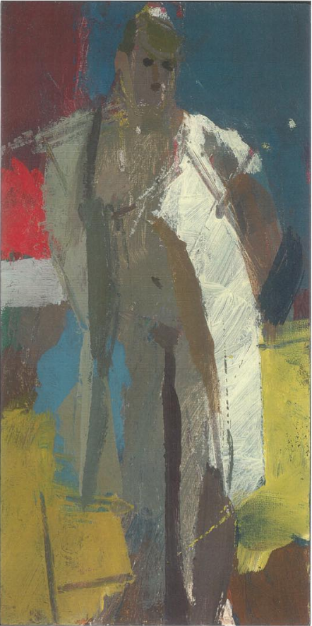 Dressing Room Paintings  2007-2012 Standing Woman with White Dress