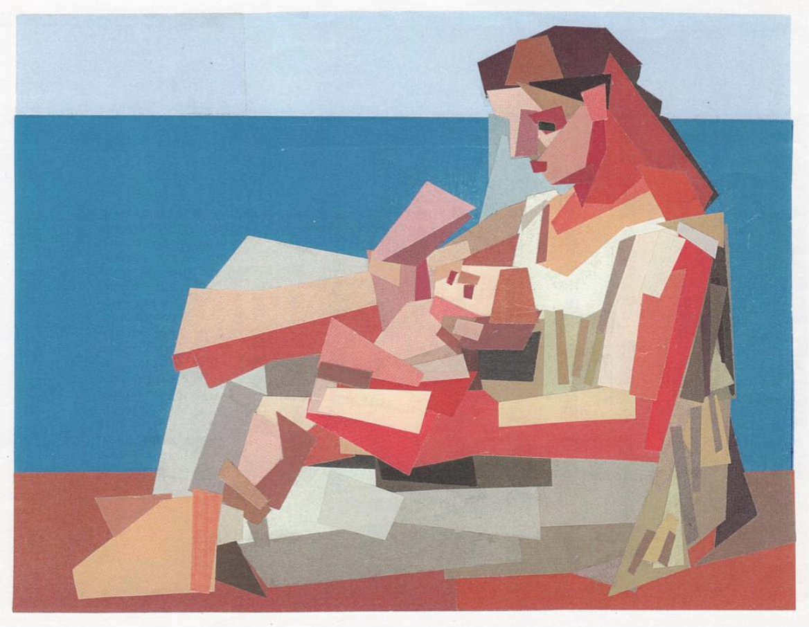 After Artist Collages 1997-2018 Mother and Child at the Seashore (after Picasso).