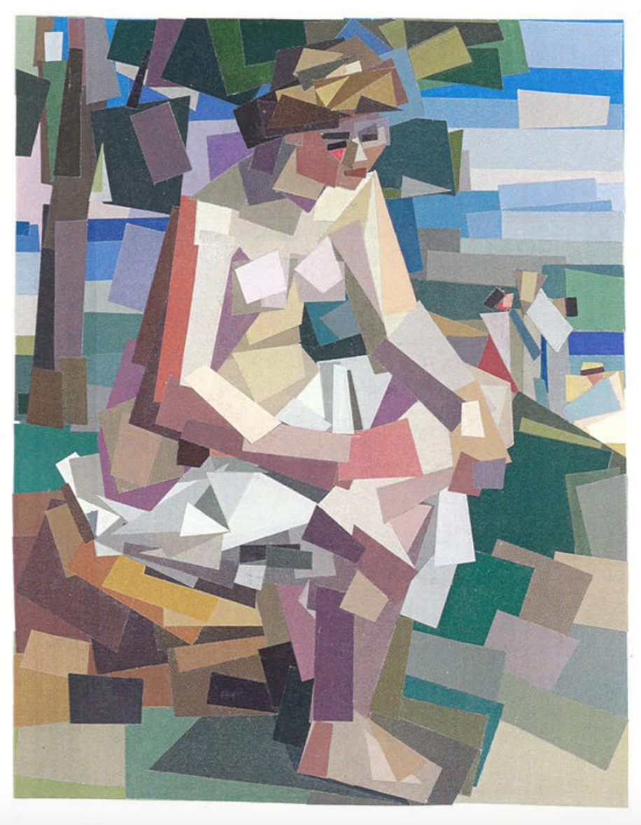 After Artist Collages 1997-2018 Seated Bather in a Landscape (after Renoir)