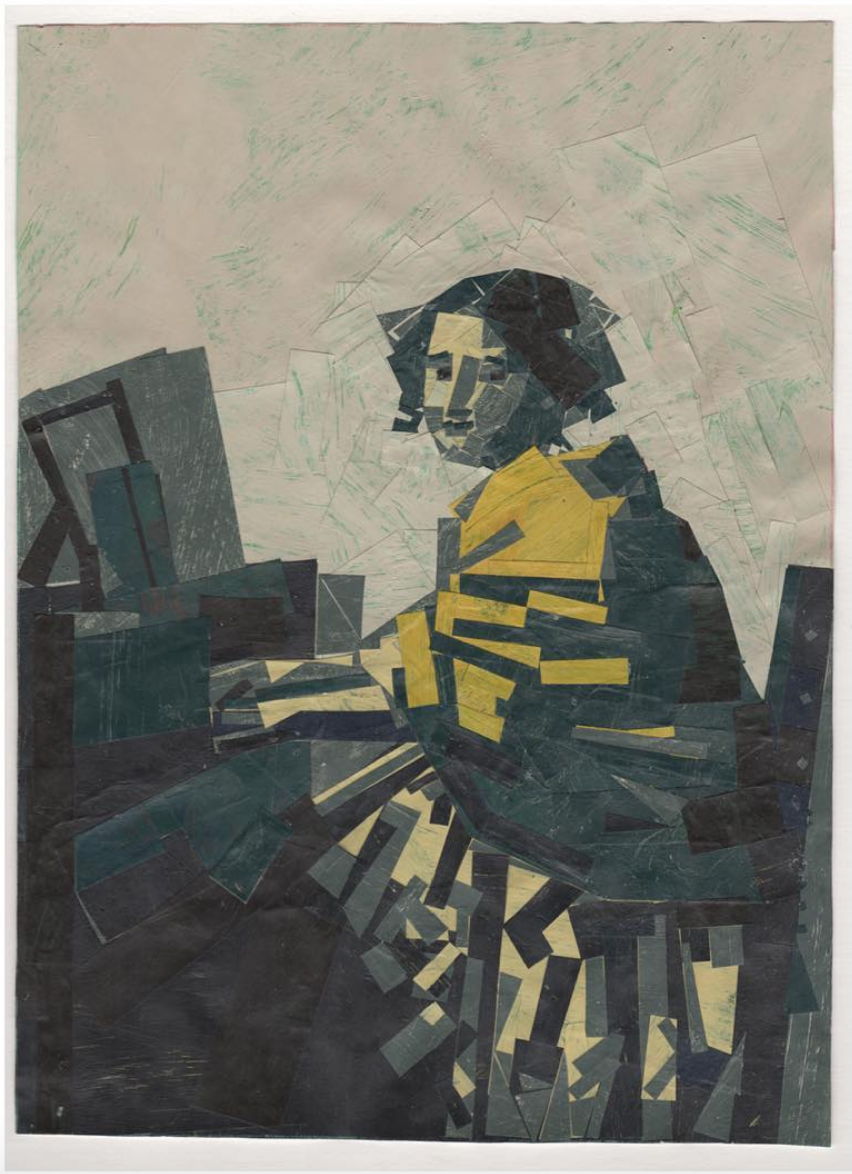 After Artist Collages 1997-2018 A Young Woman Seated at the Virginal (after Vermeer)