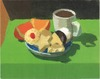 Desserts 2000 oil on paper board