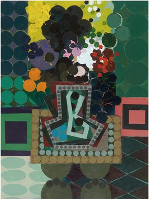 KEN KEWLEY Invented Bouquets 2015-2016 acrylic on wood panel