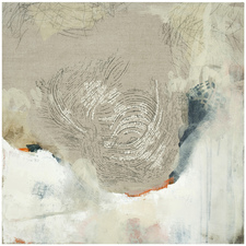 KRISTIE SEVERN Previous Work Stitching, acrylic, oil and graphite rubbings on linen
