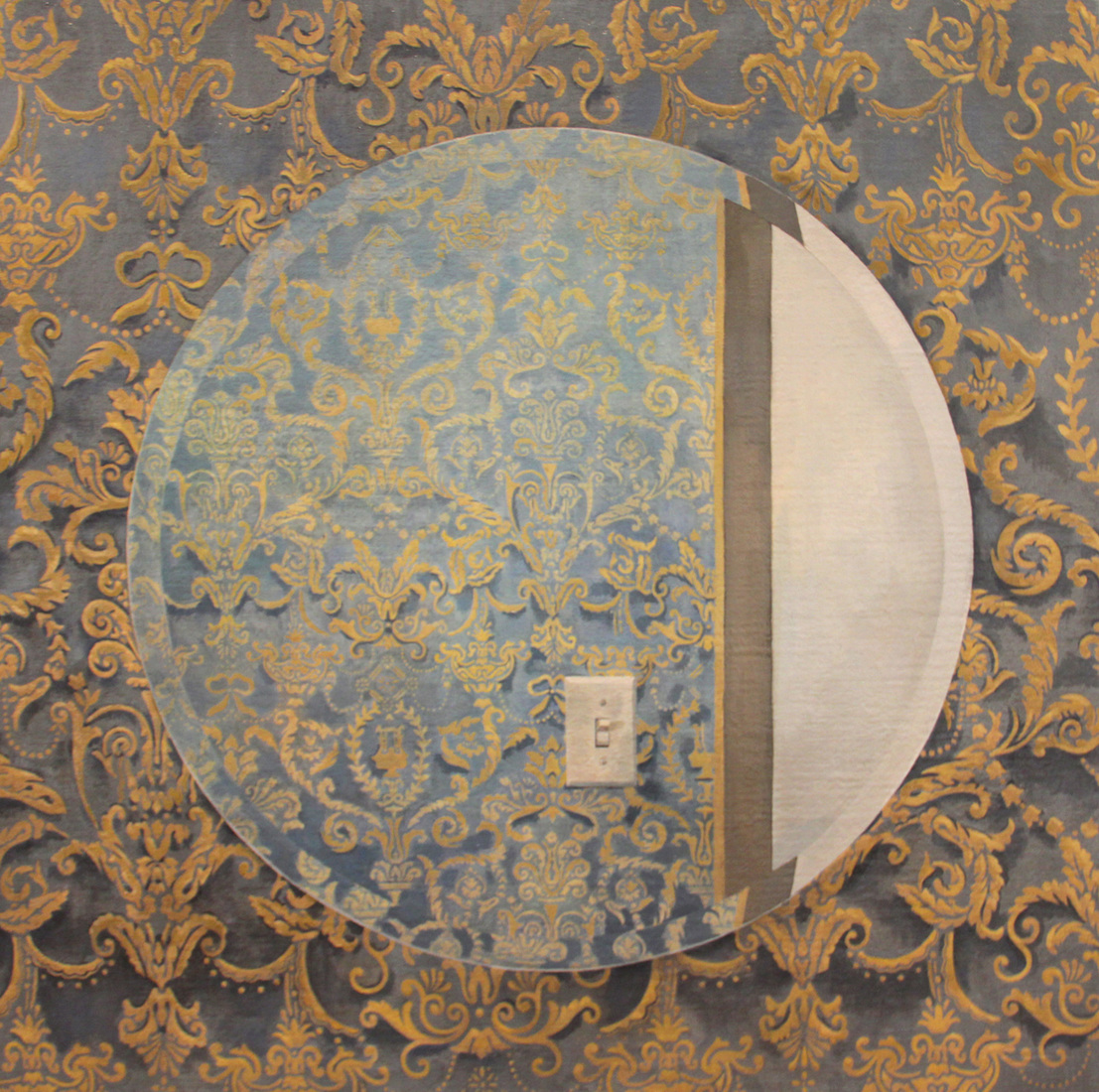 2011 Mirror with Victorian Wallpaper