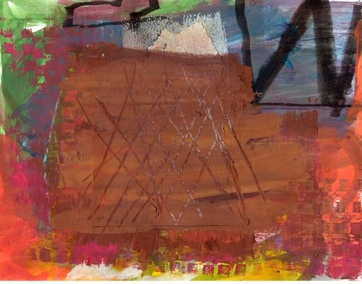 Lawrence J. Philp New Image Gallery/2020 Work on paper Acrylic ink, sgraffito, collage on paper.