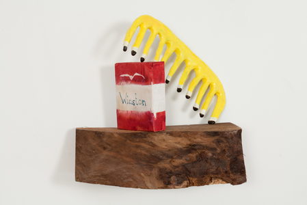 maia cruz palileo Sculpture & Installation Wood, watercolor, sculpey, and acrylic