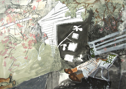 maia cruz palileo Works on Paper Gouache, watercolor, and ink on paper