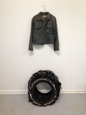 Marchelle Simms Belays Jean Jacket, Safety Pins, Tire