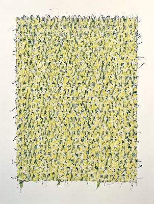 MARC LEAVITT Flower Series Acrylic and Enamel on Paper