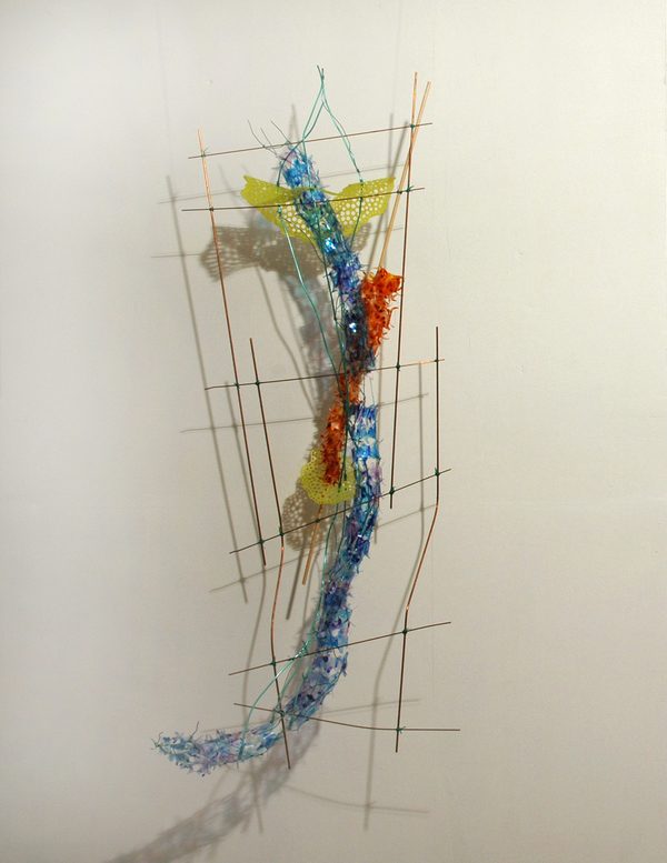 Sculpture Selections 2017-2003 Copper coated steel, ink on mylar, vinyl coated wire, thread, wood, plastic coated wire, acrylic