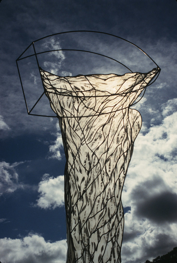 Sculpture Selections 2002-1990 Steel, ink on fabric, spoxy resin