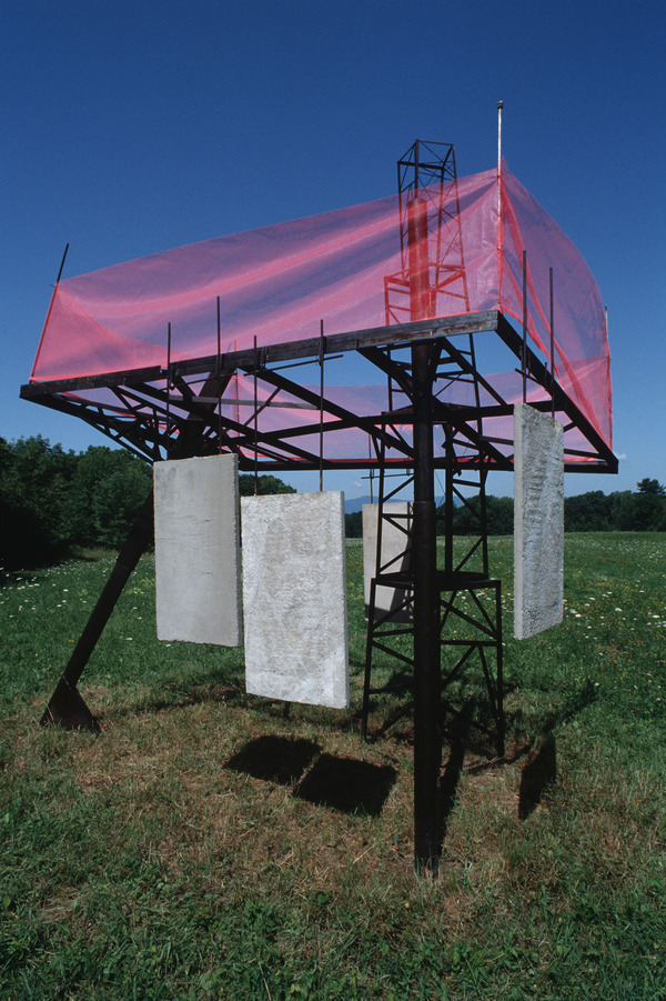Sculpture Selections 2002-1990 Steel, concrete, safety netting