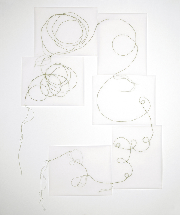 Works on Paper & Artist Books Paper vellum and thread