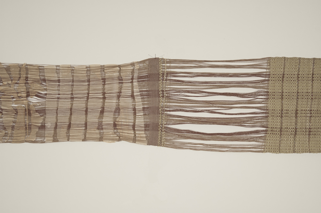Weavings & Woven Structures Cotton, abaca paper, wool, and monofilament