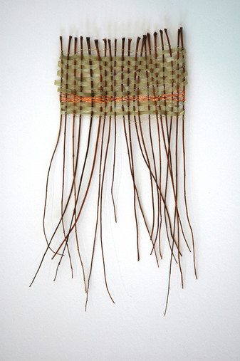 Weavings & Woven Structures branches, abaca, and copper wire.