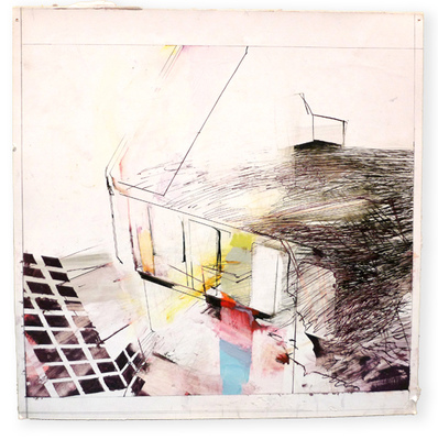 Margot Spindelman Roofs, Berths, Currents 2014-2016 gouache and ink on gessoed paper