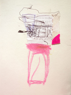 Margot Spindelman Drawings 2020 oil pastel, pen, gouache
