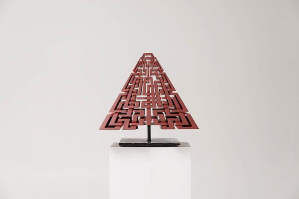 MARK OLLINGER Redpyramid Acrylic on fabricated wood