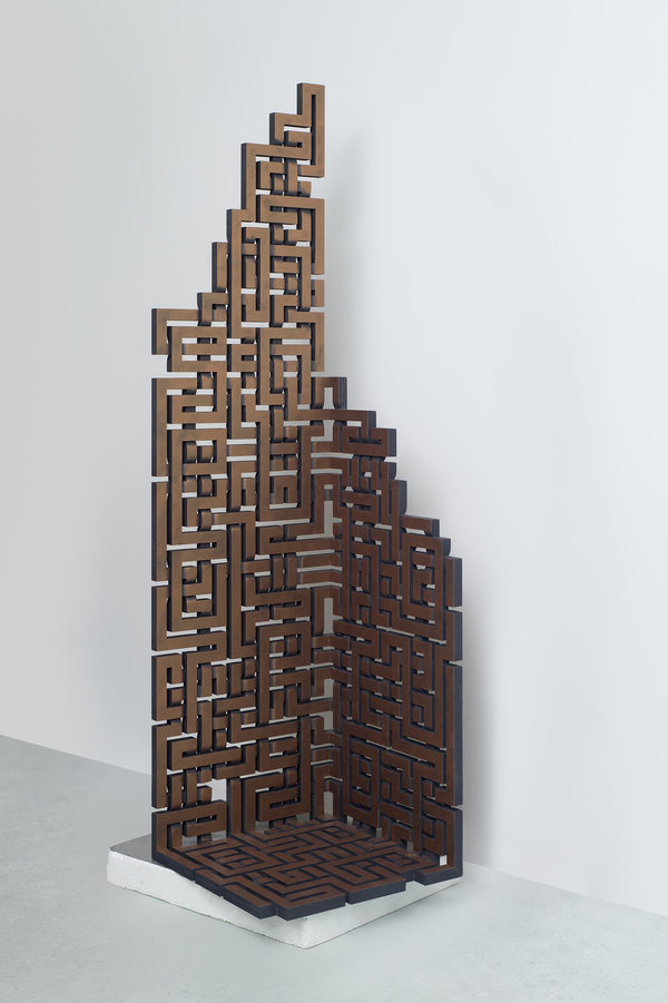 MARK OLLINGER The Structure of a Thought Acrylic on fabricated wood