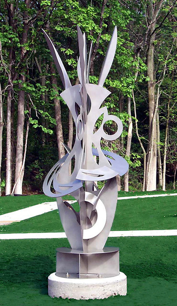 MARY GILLIS Sculpture painted steel