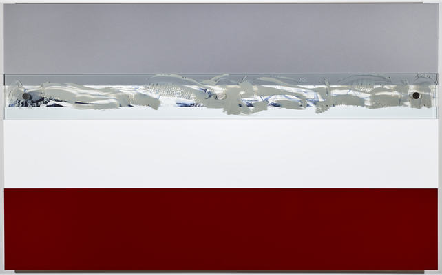 MARY GILLIS Metalscapes polyurethane on aluminum, oil on paper, acrylic on glass