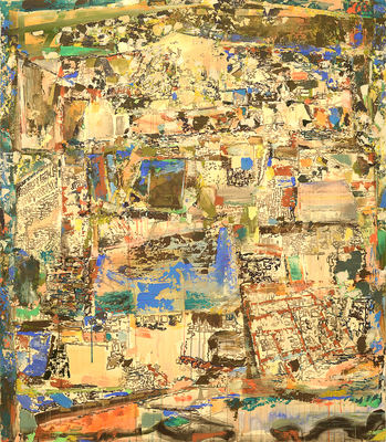 Matthew Kolodziej Patchwork acrylic on canvas