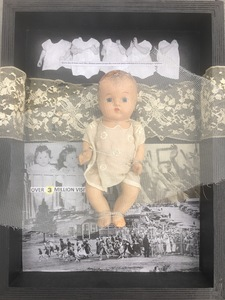 Meg Tweedy Studio Playing with Dolls  Mixed media