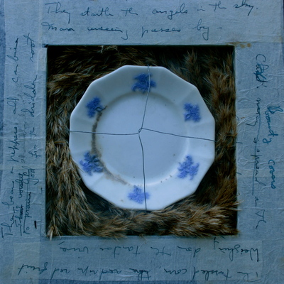 Meg Tweedy Studio Poetry Inspired Grasses, china my grandmother left to me, wire, original poem