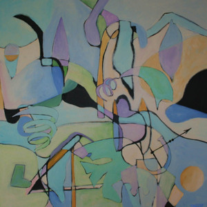Meg Tweedy Studio Abstracts acrylic