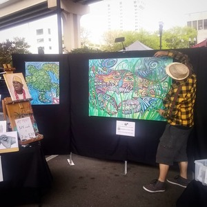 Michael Guy Tomassoni Art Market Displays