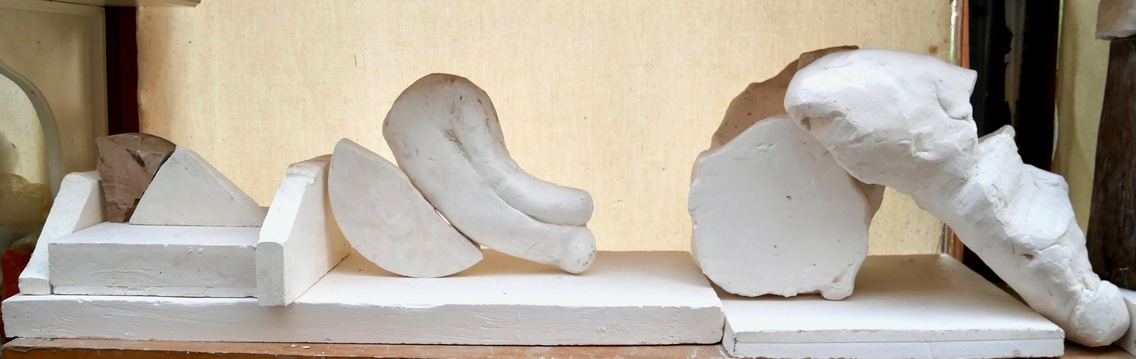 Michael Wright Sculpture Plaster