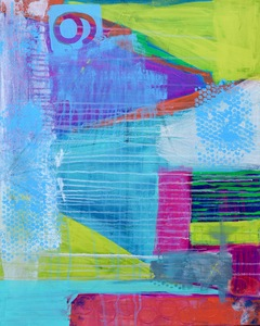 nikki keye smaller abstract Acrylic on Canvas