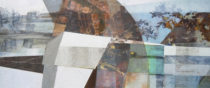 Patty Stone Charles River Collage inkjet prints,acrylic, oil on canvas