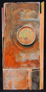 Pete Seligman Constructions Oil and metal on wood