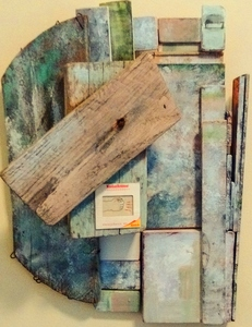 Pete Seligman Constructions Wood and collage