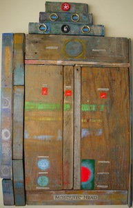 Pete Seligman Constructions Oil and  collage on wood
