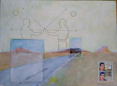 Pete Seligman Paintings acrylic, collage, graphite, photograph on canvas